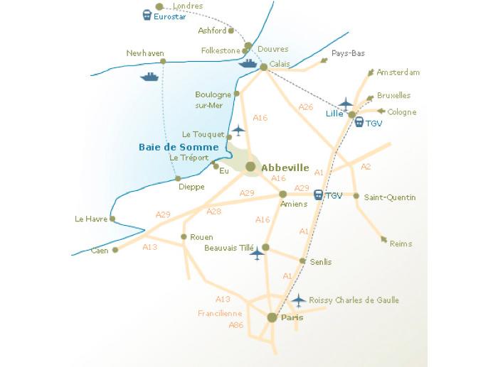 Carte Venir en Baie de Somme
