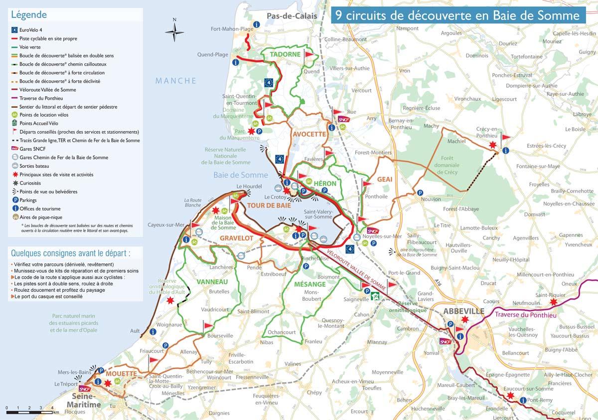 9 circuits vélo en Baie de Somme