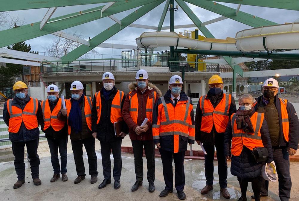 Visite chantier Aquaclub 2020