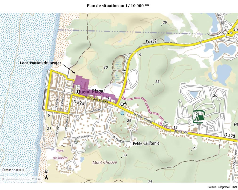 Carte situation Quend
