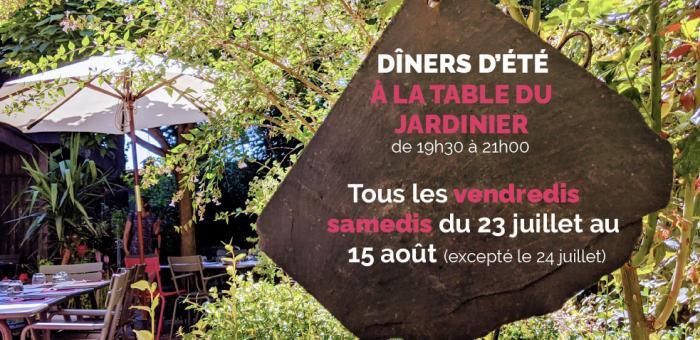 Evening meal at Table du Jardinier