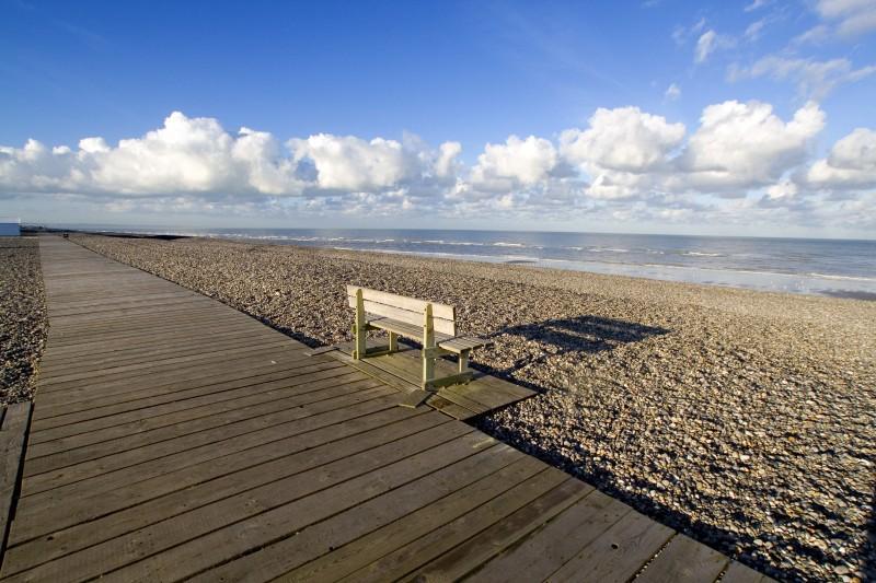 La plage de galets de Cayeux-sur-Mer
