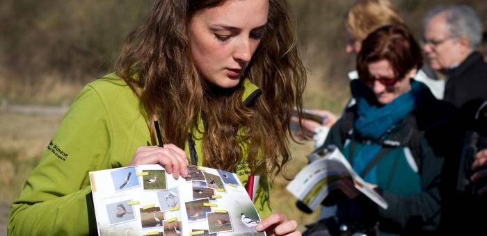 Retrouvez sur les parcours les guides du Parc du Marquenterre